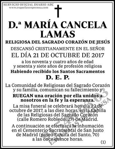 María Cancela Lamas
